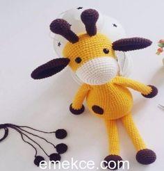 Amigurumi Zürafa Yapılışı | Emekce.com Crochet Toys Patterns, Stuffed Toys Patterns, Knitting Patterns, A 17, Amigurumi Doll, Free Knitting, Crochet Baby, Crochet Projects, Free Pattern