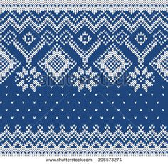 Winter Sweater Design. Seamless Knitting Pattern