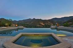 Pool and Spa with View: Luxury Home: Lake Sherwood, California: Enchanted Heaven: $3,947,000: www.144HampsteadCourt.com: WestlakeVillage@EVUSA.com
