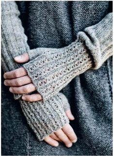 pure perfect, long fingerless mittens