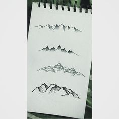 Some tiny mountain sketches from a little while ago. :) #sketch #sketches #draw…
