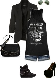 """""""A7X concert wear"""" by shelovesmakeup on Polyvore"""