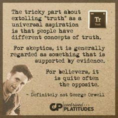George Orwell, Definitions, Believe, Concept, Faith
