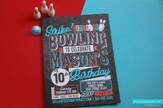 Welcome to the Design'd to Party Shop!    STRIKE up some fun as you celebrate your next birthday party and set the tone with this bowling