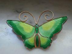 Vintage David Andersen Guilloche Enamel Butterfly by MomsNickNacks, $140.00