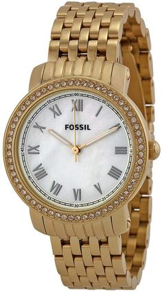 b52ee2789ae Fossil Stella Mini Mother of Pearl Crystal Bezel Gold-tone Ladies Watch.  ShopStyle · Products · Relógio Feminino Mondaine Analógico ...