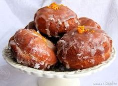 Donuts: a very old method (in Polish) Polish Cookies, Polish Recipes, Polish Food, Pretzel Bites, Coffee Cake, Brunch Recipes, Muffin, Goodies, Favorite Recipes