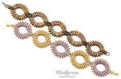 Free CzechMates 2-Hole Crescent Bead pattern | Rippling Ovals by Diane Fitzgerald | Starman TrendSetters Pattern