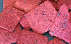Grain Free Beet Crackers