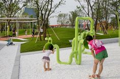 018-Vanke . THE PARK by Z + T STUDIO Playground Design, Children Playground, Urban Ideas, Suzhou, Water Treatment, Kids Playing, Landscape Design, Signage, Activities