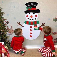 Diy Felt Christmas Tree, Christmas Trees For Kids, Christmas Ornaments, Christmas Snowman, Hanging Ornaments, Felt Ornaments, Felt Snowman, Diy Snowman, Snowman Kit