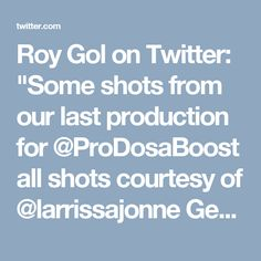 """Roy Gol on Twitter: """"Some shots from our last production for @ProDosaBoost all shots courtesy of @larrissajonne Get your $1K video https://t.co/bTgP59HKWZ https://t.co/nn0lfHsv8n"""""""