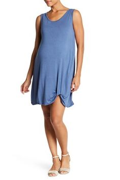 Sleeveless Knot Hem Dress (Maternity)