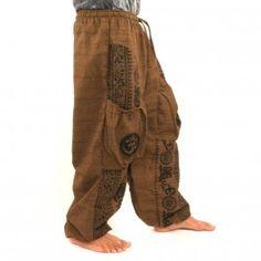 Pantalones Thai para enlazar al patrón de Tíbet