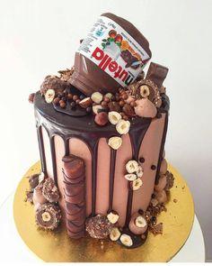 Elegant Photo of Nutella Birthday Cake . Nutella Birthday Cake Pin Paris On Sweets And Treats In Birthday Cake 30, Nutella Birthday Cake, Chocolate Birthday Cakes, Birthday Cake Designs, 16th Birthday, Crazy Cakes, Fancy Cakes, Cute Cakes, Sweet 16 Cakes