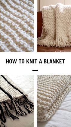Learn how to knit a cosy woollen blanket in next no time using Wool and the Gang's Crazy Sexy Wool and 25mm knitting needles