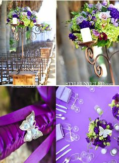 Gorgeous butterfly wedding decorations.