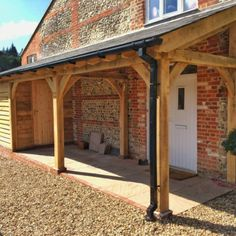Country Barns Oak Framed Porches near Farnham, Hampshire & Surrey Veranda Pergola, Front Porch Pergola, Gazebo Roof, Front Door Porch, Porch Veranda, Front Porch Design, Porch Roof, Pergola With Roof, House Front