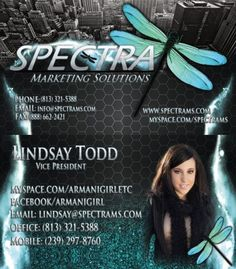 Lindsays First Spectra Business Card Designed By Marketing Solutions Need Cards And Printed Visit Spectrams