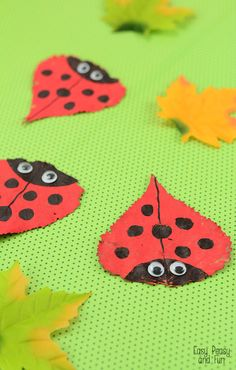 Leaf Ladybug Craft - Easy Peasy and Fun Leaf Ladybug Craft - Easy Peasy and Fun Animal Crafts For Kids, Fall Crafts For Kids, Craft Activities For Kids, Toddler Crafts, Spring Crafts, Art For Kids, Preschooler Crafts, Spring Activities, Cute Crafts