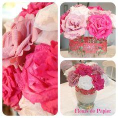 Je confectionne des fleurs de papier et je loue des portes en guise de décor pour votre mariage. Page  facebook: http://on.fb.me/1rgbTNc Aller voir mes créations.  Hélène Monfette Fleurs de papier 819-821-8179