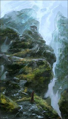 .waterfall. by noah-kh on deviantART