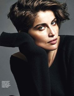 Laetitia Casta stuns in short hair for Harper's Bazaar España August 2015 by Alique [Fashion]