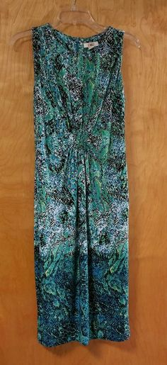 CATO Women's Dress Size 6 Awesome Blue Green Wild Print Church Career in Clothing, Shoes & Accessories, Women's Clothing, Dresses | eBay
