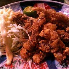 イカ下足唐揚げ #izakaya #japanese #food #dinner #philippines