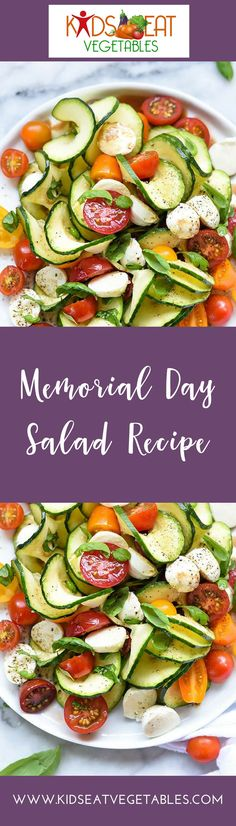 Are you looking for Memorial Day recipes?  Perhaps, you're going for the usual potato salad, right? Why not try this delicious and healthy Spiralized Zucchini Salad recipe?  It's fresh.  It's easy to create, and it is absolutely perfect for summer.  You o