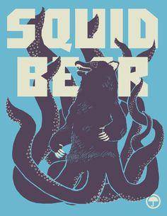 Squid-Bear by Orphan Elliott