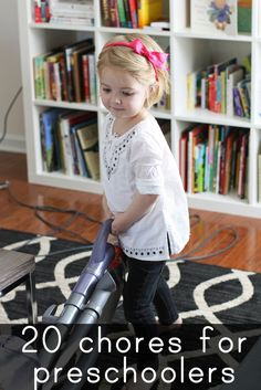 Chores your 3-5 year old can do (most of them with zero adult help!)