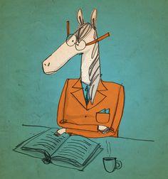 ¡Lee como pa' no terminar de horse! Ilustración por Jared Chapman.