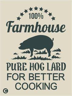 Primitive Stencil. FARMHOUSE PURE HOG  LARD Vintage Advertising Kitchen    #AmericanaPrimitiveStencils