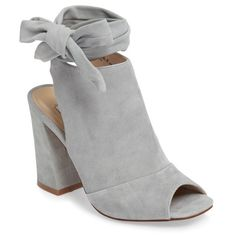 Women's Kristin Cavallari Leeds Peep Toe Bootie (665 RON) ❤ liked on Polyvore featuring shoes, boots, ankle booties, blue suede, suede booties, suede ankle booties, peep-toe booties, peep toe ankle boots and blue suede booties
