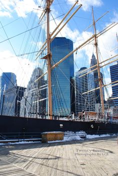 EDIT_PHOTO While at South Street Seaport look for the white lighthouse and South Street Seaport Museum.
