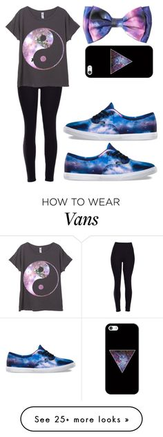 """Galaxy"" by msbpeace on Polyvore featuring Casetify and Vans"