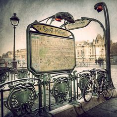 Travel Photography, Parisian decor and fine art Paris of the St Michel station. title of the photograph : Paris Saint Michel 15 cm x 15 cm Paris Photography, Fine Art Photography, Travel Photography, Paris Map, Paris France, Versailles, Rue Mouffetard, Parisian Decor, Springtime In Paris