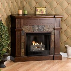 Huge Savings on an Wildon Home ฎ Market Gel Fuel Fireplace Finish: Oak. Buy Now & Find Savings Extended Wildon Home ฎ Get The Best Price Now! Diy Fireplace Mantel, Fireplace Inserts, Fireplace Design, Fireplace Ideas, Fireplace Brick, Fireplace Seating, Bedroom Fireplace, Fireplace Surrounds, Fireplace Insert Installation