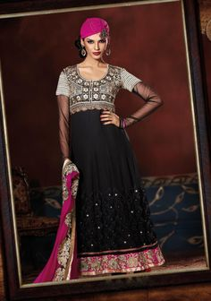 Subtle Black & Pink Embroidered Suit Design No :- 18554 Product :- Unstitched Salwar Kameez Size :- Max 40 Fabric :- Pure Georgette Work :- Resham, Jari, Embroidery, Diamond Work Stitching Charges :- र 400 Price :- र 6145  For Sales Queries :- sales@manjaree.in OR call on 0261-3131669  For More Information :- http://manjaree.in/  Follow Our Blog :- http://manjareefashion.blogspot.in/