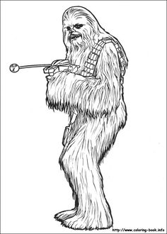 star wars chewbacca coloring pages printable and coloring book to print for free. Find more coloring pages online for kids and adults of star wars chewbacca coloring pages to print. Birthday Coloring Pages, Disney Coloring Pages, Christmas Coloring Pages, Free Printable Coloring Pages, Coloring For Kids, Coloring Pages For Kids, Chewbacca, Star Wars Coloring Book, Coloring Books