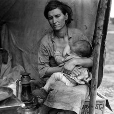 Dust bowl-Migrant mother, Nipomo, California, 1936 by Dorothea Lange