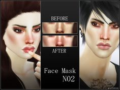 Facemask for shine Found in TSR Category 'Sims 4 Female Skin Details'