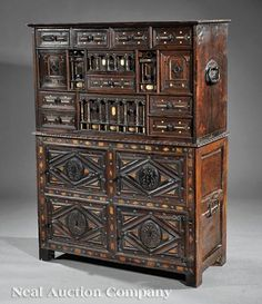 SPANISH BAROQUE REVIVAL CARVED VARGUENO DESK | Cabinet of ...
