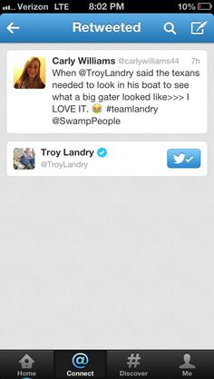 Chases dad Troy RT'ed me lol