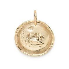 James Colarusso™ 14k gold bull charm