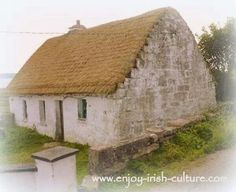 Vernacular Thatched Irish Cottage