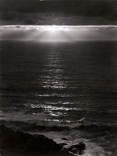 Ansel Adams,  Pacific Ocean, Sundown, ca. 1953.  Gorgeous image.