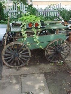 AS IS  Small PRIMITIVE ANTIQUE FARM PRODUCE WAGON  Come and pick it up!   Loooooooove using wagons and wheelbarrows around the farmhouse gardens and outside decorating themes!!! Imagine this fab wagon full of pumpkins!!! Evergreens at Christmas!!!! endless possibilities!!!!