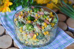 Makaronowa sałatka z tuńczykiem i brokułem - PrzyslijPrzepis.pl Tortellini, Empanadas, Guacamole, Potato Salad, Potatoes, Vegetables, Ethnic Recipes, Food, Diy